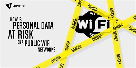 How is Personal Data at Risk on a Public Wifi Network