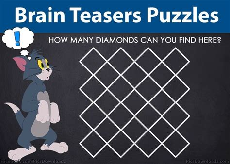 Find number of diamonds in image – Brain Teasers Puzzles