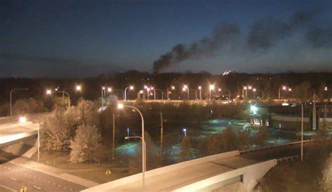 Stubborn Vehicle Fire In Newark Knocks Out Power To