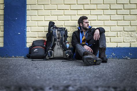 Chile Reiseblog: It's me - waiting for Bus in Puerto