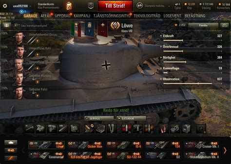 Selling - Europe - Some Premiums - World Of Tanks Account