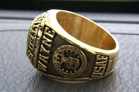 US Air Force Ring Heraldic Signet Ring Gold Plated Gilded