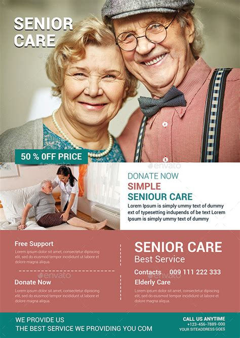 Elderly Care: Flyer Template by afjamaal | GraphicRiver