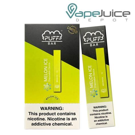 PUFF Bar Melon Ice Disposable Pod Device - FREE Shipping
