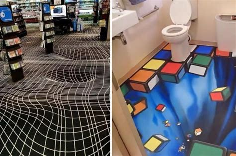These Floor Optical Illusions Are Basically A Drunk Person
