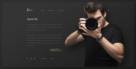 Laterna - HTML bootstrap photography template | Gridgum