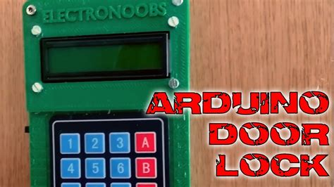 Door lock keypad and bluetooth Arduino tutorial - YouTube