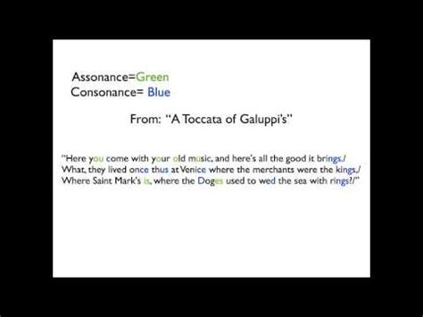 Consonance and Assonance (and a little Alliteration) - YouTube