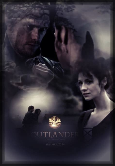 Composite of stills from the Starz Outlander