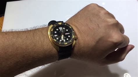The Golden Turtle Seiko Dive Watch SRPC44 - YouTube