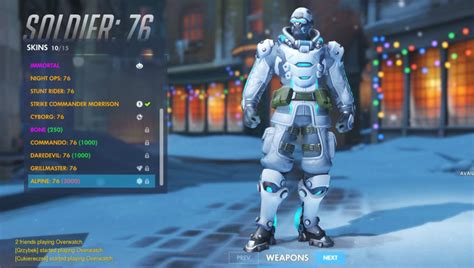 All New Skins From Overwatch Winter Wonderland Event 2017