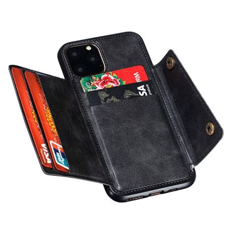 iPhone 11 Pro Max Leather Wallet Case with Card Holder
