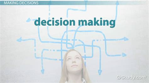 Decision Making: Definition & Types - Video & Lesson