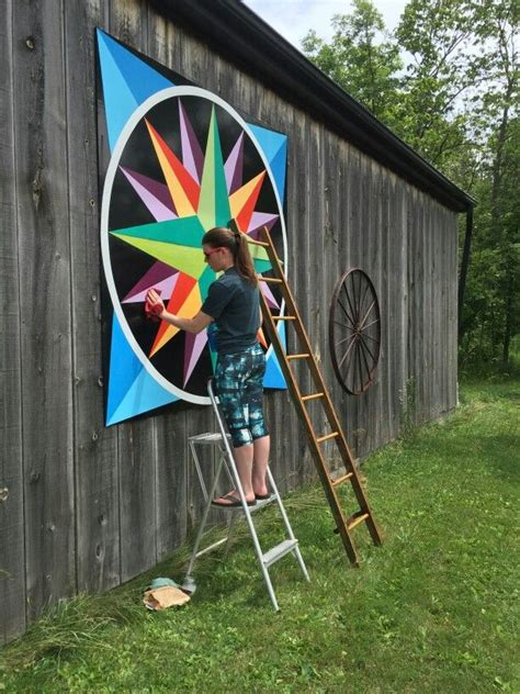 7' Mariners Compass … | Painted barn quilts, Barn quilt