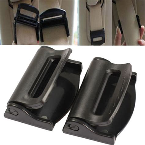 2pcs Car Vehicle Seat Belts Clips Safety Adjustable