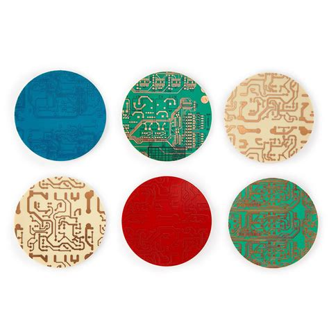 Circuit Board Coasters | Geek Gifts, Gifts for Engineers