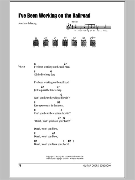 I've Been Working On The Railroad | Sheet Music Direct