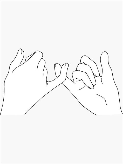 'pinky promise' Sticker by katielavigna in 2020 | Pinky
