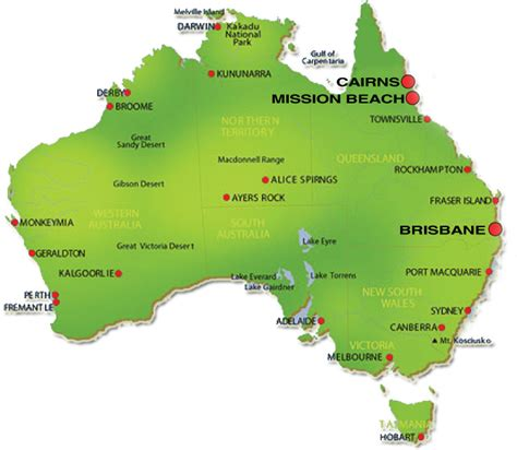 Australia Map Geography Pictures | Map of Australia Region