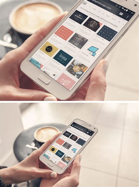 Android Phone PSD MockUp   GraphicBurger