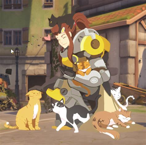 overwatch heroes with cats | Tumblr